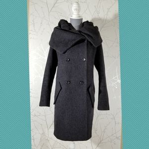 Zara Purple Dramatic Cowl Neck Coat